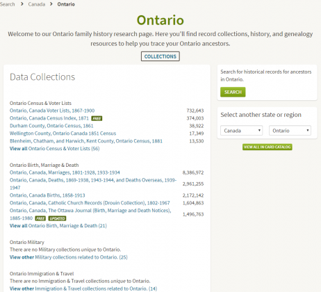 Ontario Collections